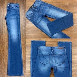 NWOT EXPRESS MID RISE BARELY BOOT JEANS